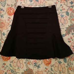 ELLE black A-line mini skirt textured Sz M